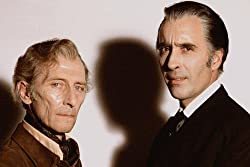 Christopher Lee and Peter Cushing in The Satanic Rites of Dracula