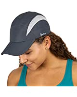 TrailHeads Folding Bill Running Hat for Women | Summer Cap with UV Protection - Charcoal