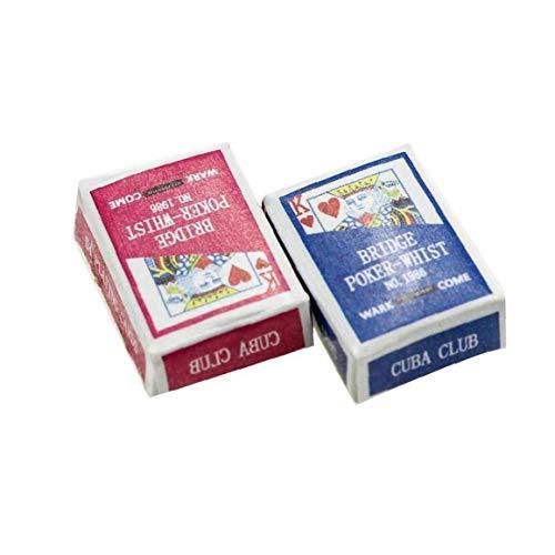 Mini Naipes Juegos De Papel Poker Naipes 1/12 1 Juego De Muñecas En Miniatura De Juguete Decoración del Dollhouse Accesorios Color Al Azar