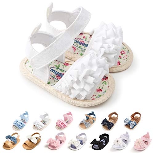 Baby Girls Sandals Soft Sole Infant Newborn Princess Wedding Dress Shoes Crib Shoes Flats Beach Sandals