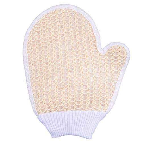 Lurrose 1 stück dusche Peeling Bad Handschuhe Natur sisal hanf dusche Handschuhe körper peelinghandschuhe (zufällige Farbe)