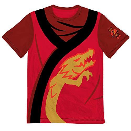 Lego Ninjago Boys Costume T Shirt (Red, 8)