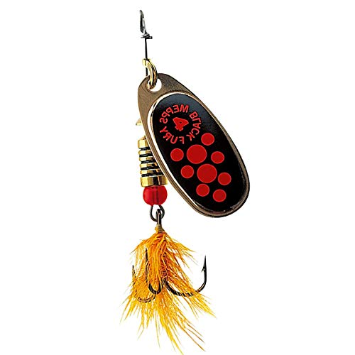Mepps Spinner Black Fury Mouche Silber/rote Punkte Fluo 3