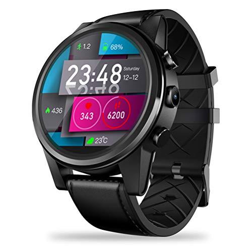 HJKPM 4G Smartwatch, Tarjeta Enchufable Llamada Smart Watch Sensor De Movimiento De Precisión Incorporado Y ECG PPG HRV Múltiples Funciones Inteligentes,Negro