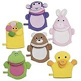 Waschlappen Waschhandschuh Kinder Baby Tiere Bad Dusche Pflege Blume vers.Sorten Ente