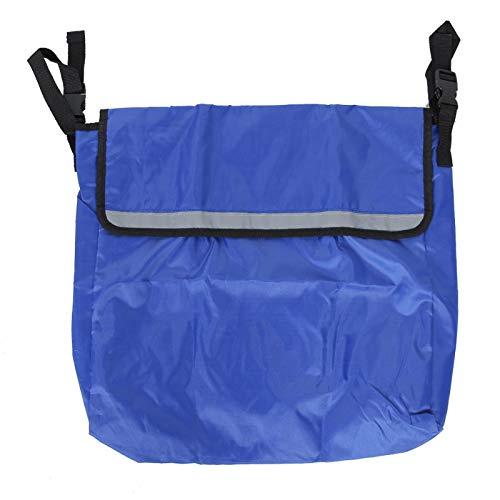 Rollstuhl Rucksack Hängetasche, Elektrorollstuhl Mobilität Roller Rucksack Zubehör Mobilitätshilfe Tasche Aufbewahrungsorganisator Hohe Kapazität(Blau)