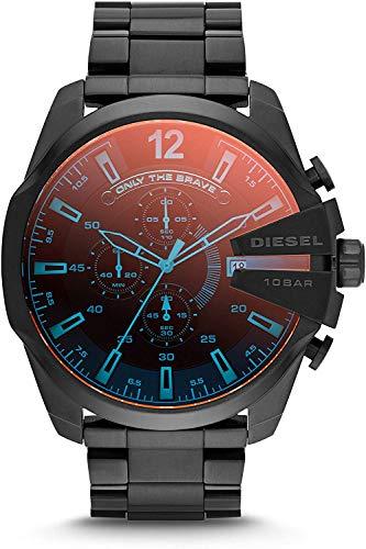 Diesel Herren Chronograph Quarz Uhr mit Edelstahl Armband DZ4318