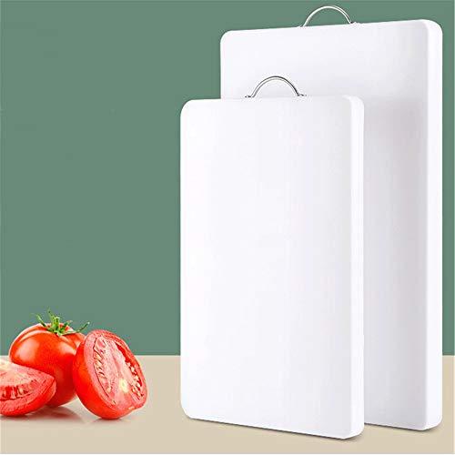 JIAMIN Tabla de cortar a prueba de moho engrosamiento de alimentos para cocina, hogar, resina de polietileno, plástico, gran corte de frutas, tabla de cortar (color: blanco, tamaño: 270 x 350 x 10 mm)