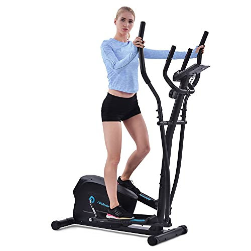 Elliptical Trainer Machine Upright Exercise Bike with 8-Level Magnetic Resistance