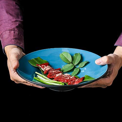 JHSLXD Cuenco De Pasta Creativo Cuenco De Cerámica Cuenco De Fideos Cuenco De Ensalada De Frutas De Alta Capacidad Cuenco De Postre Cuenco para Mezclar Cuenco De Verduras Vajilla,700ml
