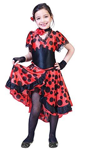 Spanierin Evita Kostüm Mädchen Gr. 116