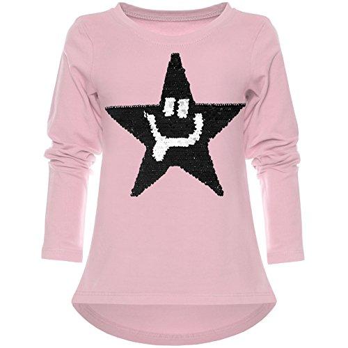 BEZLIT Mädchen Wende-Pailletten Shirt Süßem Motiv 21897 Rosa Größe 164
