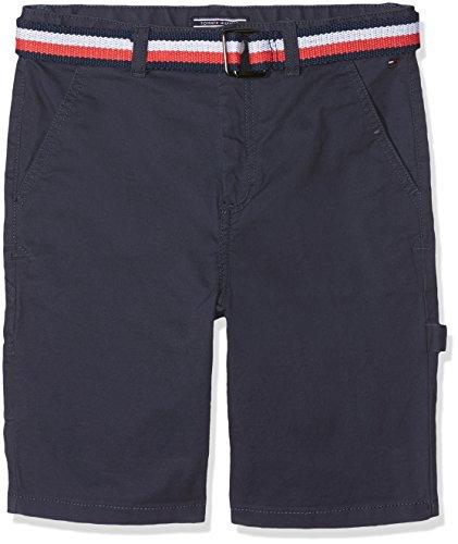 Tommy Hilfiger Jungen Belted Workwear POWSC PD Shorts, Schwarz (Black Iris 002), 152 (Herstellergröße: 12)