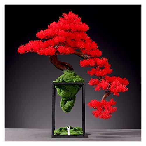 Planta artificial Simulación de escritorio Booding Pine Bonsai interior grandes plantas verdes plantas en maceta Plantas de estar Entrada Entrada Partition Flowers Flowers Decoración Adornos Regalos A