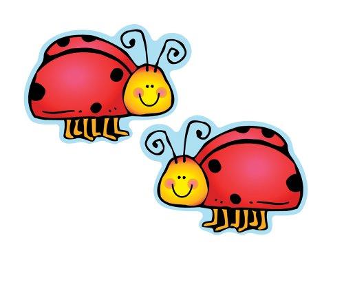 Carson Dellosa – Ladybugs Colorful Cut-Outs, Classroom Décor, 36 Pieces