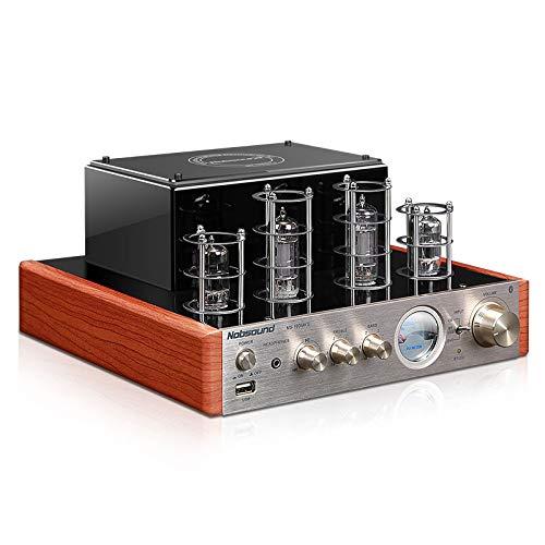 Amplificador de Tubo de válvula Original MS-10D MKII HiFi 2.0 Amplificador USB / Bluetooth Amplificador de Audio 25W + 25W (glod)