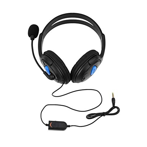Auriculares con Cable para Juegos Auriculares con micrófono Micrófono Estéreo Bajo Cena para Sony PS4 Playstation 4 Gamers