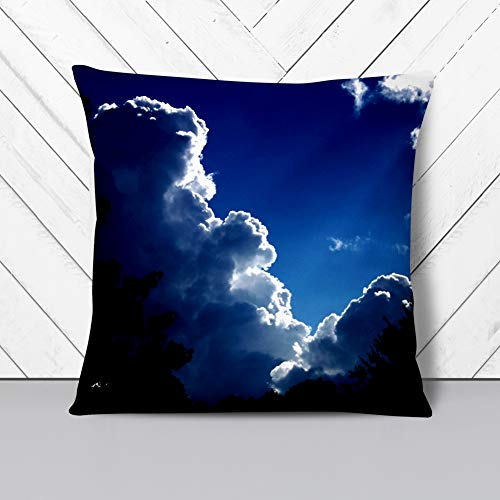 Big Box Art Cushion and Cover - Beautiful Sky Clouds (3) - Single Square Throw Pillow - Soft Faux Suede Material - Double-sided - 40x40 cm