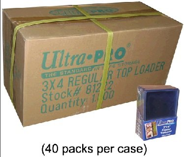 """1000 x 3x4"""" Ultra Pro of Top Loaders for normal sized sports baseball football cards and gaming magic yugioh cards (top load case)"""