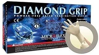 Diamond Grip Latex Gloves Medium Case by Microflex
