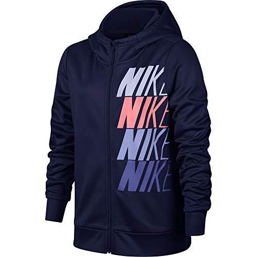 Nike Kinder Therma Full Zip Hoodie, Blue Void/Palest Pur, M
