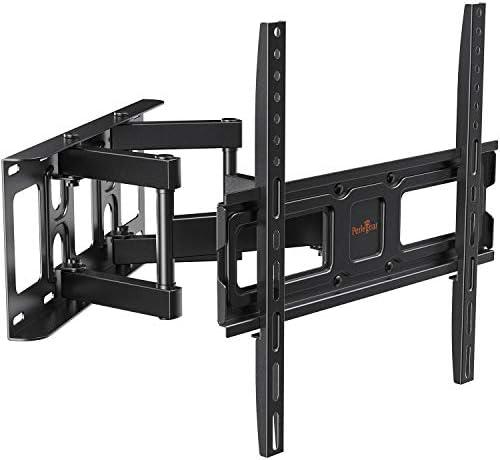 Perlegear TV Wall Mount Bracket Full Motion Dual Swivel Articulating Arms Extension Tilt Rotation product image
