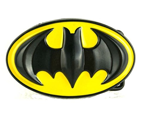 Batman Western Superhero Black Yellow Metal Buckle Belt