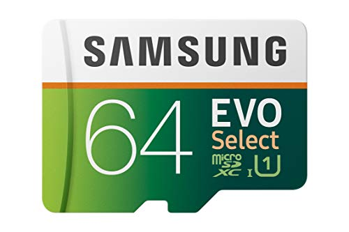 Samsung EVO Select 64GB microSDXC UHS-I U1 100MB/s Read Full HD & 4K UHD Memory Card with Adapter (MB-ME64HA)