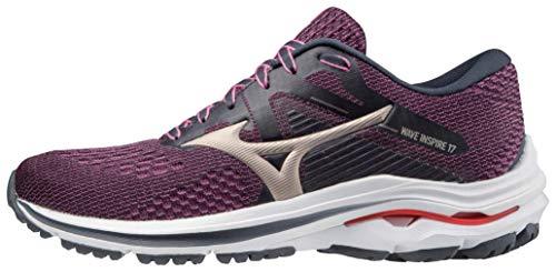 Mizuno Women's Wave Inspire 17 Running Shoe, India Ink, 8.5