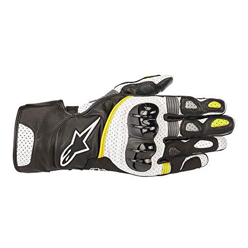 Alpinestars SP-2 v2 Lederhandschuhe schwarz/weiß/gelb Fluo LG