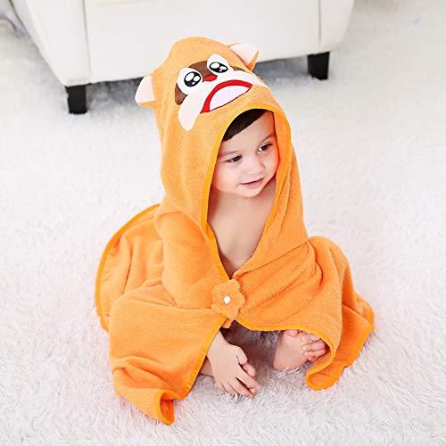 Manta con capucha de algodón Manta infantil de dibujos animados Albornoz Manta de bebé Manta de toalla de baño,E,90 * 90cm