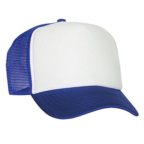 Art Royal de casquette en maille raphia White