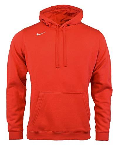 NIKE Men's Club Fleece Hoodie (Medium, Red)