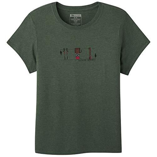 Outdoor Research Toolkit - Camiseta de manga corta para mujer, ligera, transpirable, cuello redondo - gris - Large