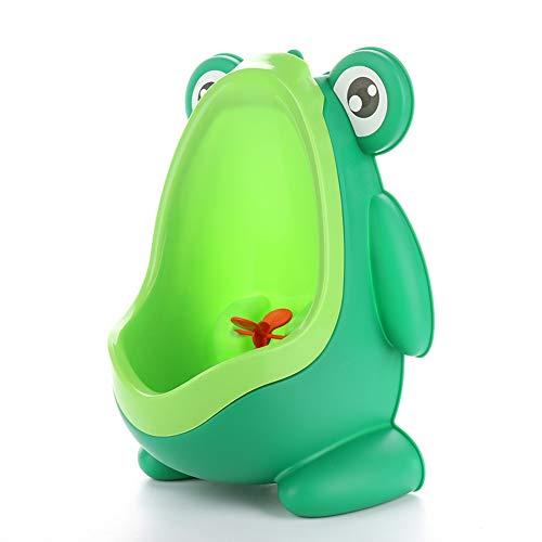 Seika Süße Jungen-Toilette Frosch Urinal Pool Pee Training mit lustigem Zielziel Wand-WC, grün, 2201#190627MQ12-1#TXLE
