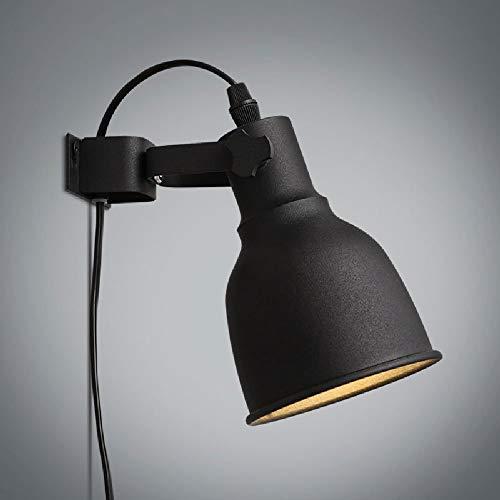 * Verstelbare wandlamp voor hal, ijzer, retro, persoonlijkheid, creatief, trap, balkon, LED, wandlamp, 178 x 160 mm, zwart