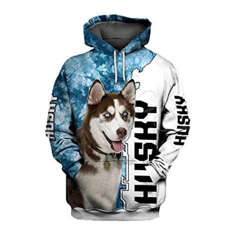 Moda Rottweiler Dog 3D Print Hoodie, Hombres Mujeres Sudadera Casual Pet Dog Hooded Coat Hoodie 4 4XL