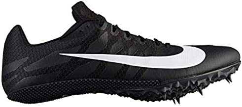 Nike Zoom Rival S Sprint Track Spikes Shoes Men's nk907564 001 (9) Black/White