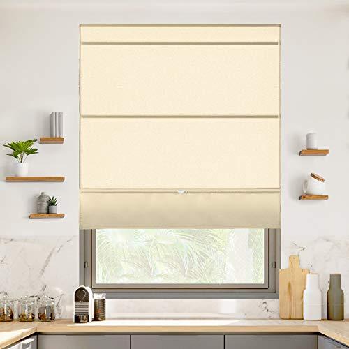 CHICOLOGY Magnetischer Raffrollo, Stoff-Fenster-Behandlung, perfekt für Esszimmer/Schlafzimmer/Küche/Büro und mehr, 83,8 cm B x 162,6 cm H, Runway Tan (Lichtfilterung)