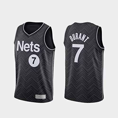 Ropa de baloncesto para hombres, Nets de Brooklyn # 7 Kevin Durant Swingman Nba Jersey, Uniformes de baloncesto para deportes al aire libre Camiseta sin mangas Camiseta deportiva Chaleco superior,L