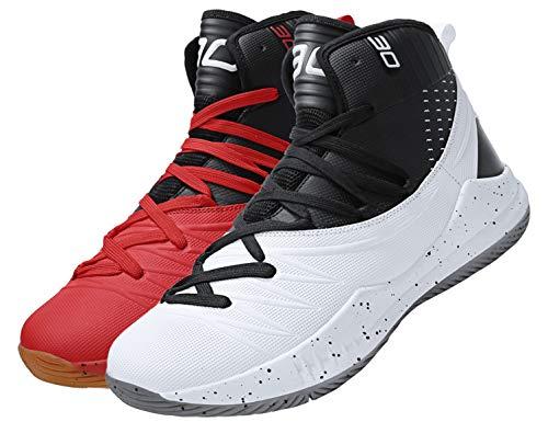 SINOES Zapatos para Correr Deportivas para Hombre Caminar Fitness Slip on Zapatillas con Knit Calcetín Alta Top Air Sneakers
