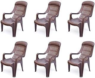 @home by Nilkamal Weekender Garden Set of 6 Chair (Weather Brown)