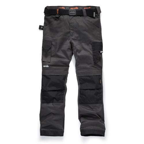 Scruffs Men's Pro Flex Workwear Trousers, Grey (Graphite 001), W38/L32