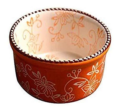 Plato de cerámica pintado a mano para vajilla de cerámica creativa floral (color: naranja, tamaño: 10 x 5 cm)