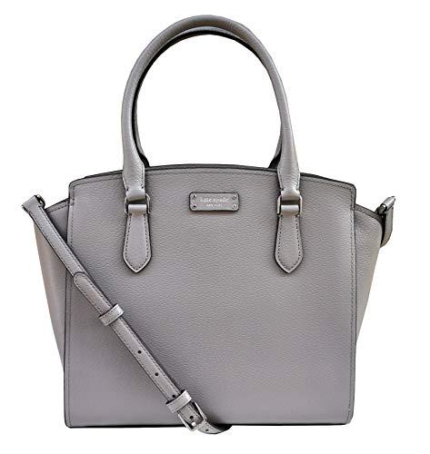 Kate Spade New York Jeanne Medium Leather Satchel Crossbody Bag Soft Taupe Grey