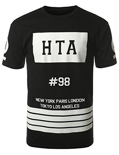 URBANCREWS Mens Hipster Hip Hop HTA #98 Dope Graphic Print T-Shirt