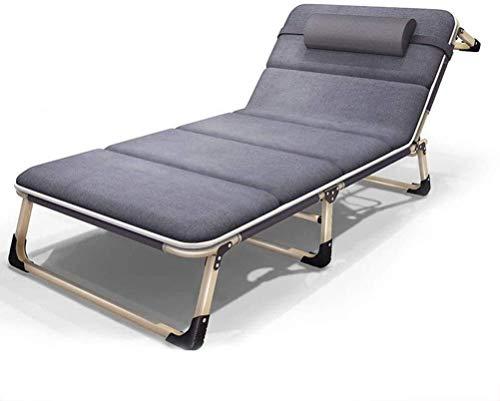 Muebles de patio, tumbonas de moda, una silla plegable portátil de verano, hogar, oficina, cama de playa al aire libre, cama de alta resistencia acolchada reclinable transpirable