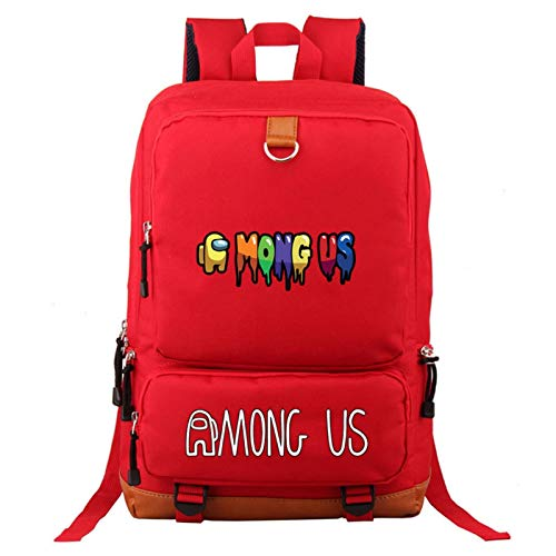 HETUI Backpack Mens Laptop Bag Among Us 3D Games Backpack Bags New Game Among Us Fashionable Backpacks Casual Backpacks Oxford School Bags Teen Backpack Bags Luggage & Bags (Color : C, Size : 17'')