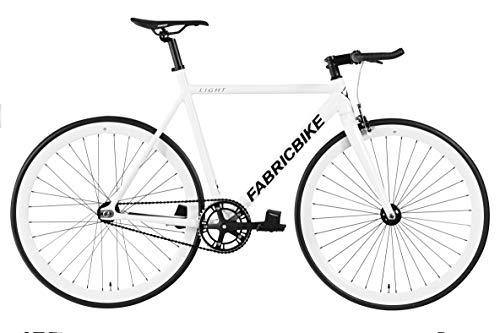 FabricBike Light - Bicicleta Fixed, Fixie, Single Speed, Cuadro y Horquilla Aluminio, Ruedas 28