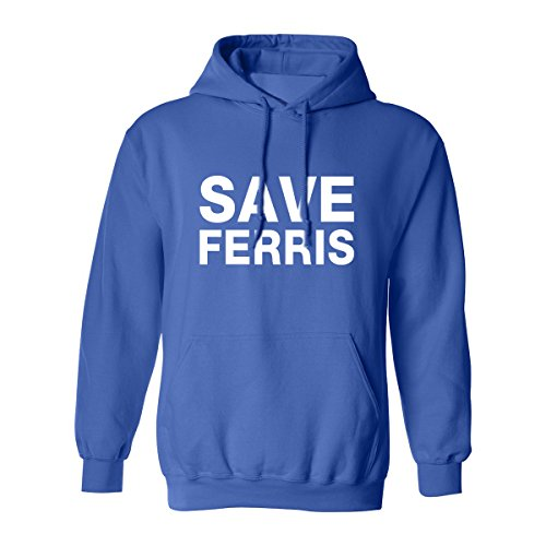Adults Save Ferris Bueller Hooded Sweatshirt, Jersey Drawstring, 9 Colors, S to 5XL